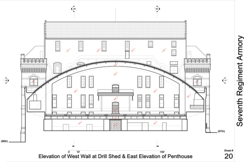 Section through Drill Hall