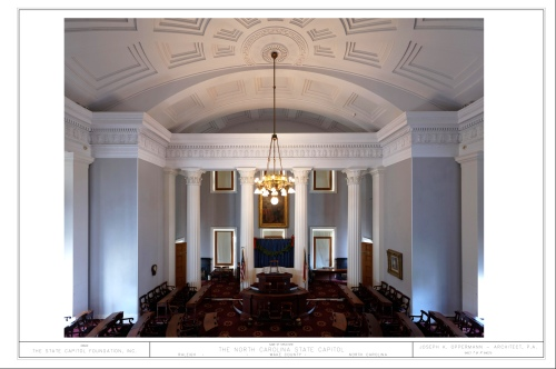 The Senate Chamber, NC State Capitol - Raleigh, NC