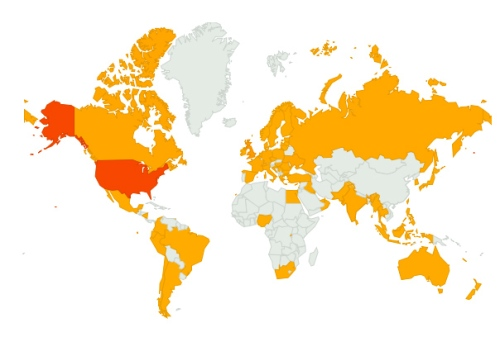 web site visits in the last 30 days