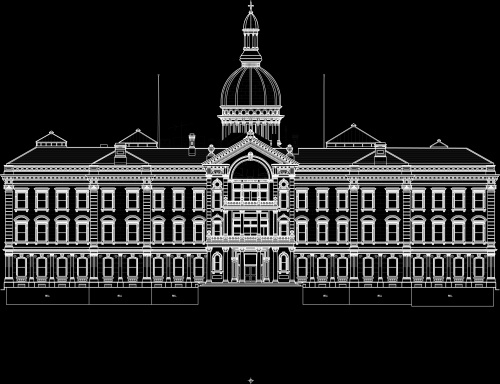 New Jersey Statehouse Composite Elevation