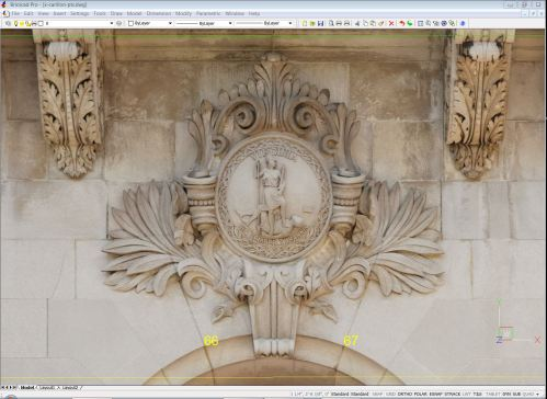 Detail of Rectified Photo showing a sufficiently rich image resolution to document architectural elements in elevation
