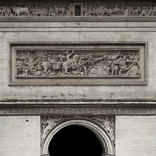 Frieze detail from side