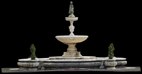 Orthophoto of the fountain in its entirety