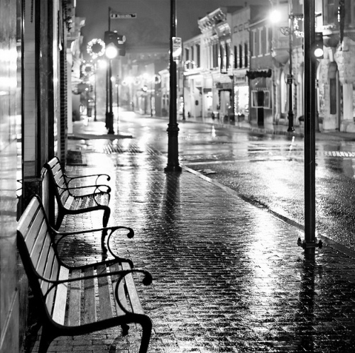 Beverley Street in the rain - Staunton, VA