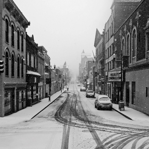 Beverley Street in the snow - Staunton, VA