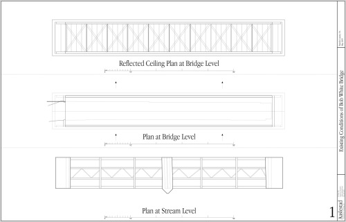 Measured Drawings of Bridge in Plan