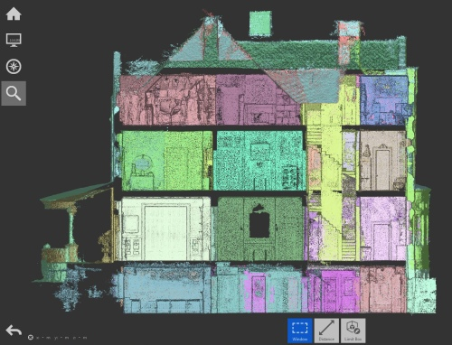 Section: different scans are shown by different colors