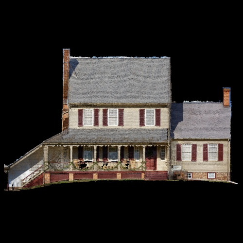 front of point cloud