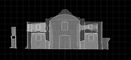 Section Through Alamo Point Cloud